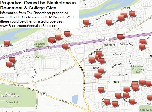Properties owned by Blackstone in Rosement and College Glen