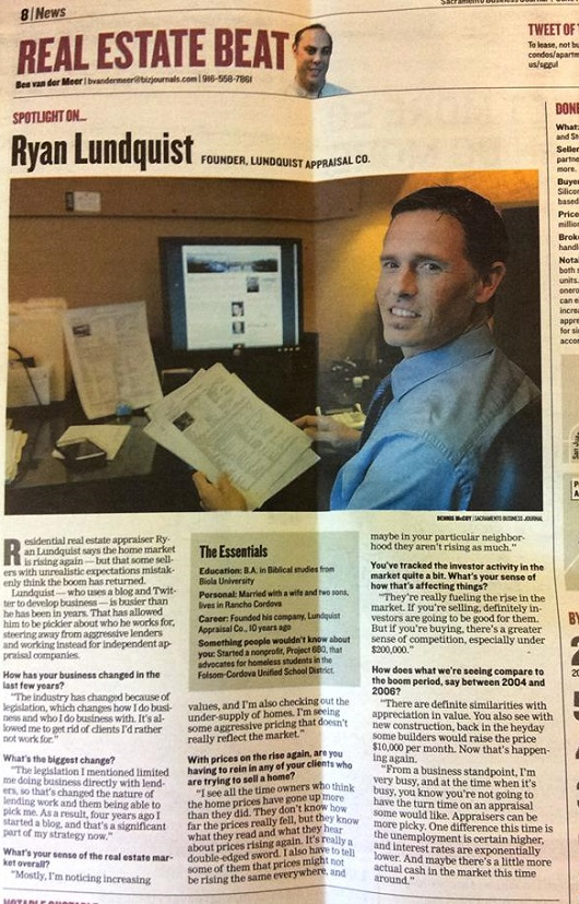 Ryan Lundquist in Sacramento Business Journal