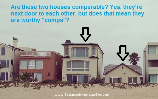 what makes a good comp - by Sacramento Appraisal Blog