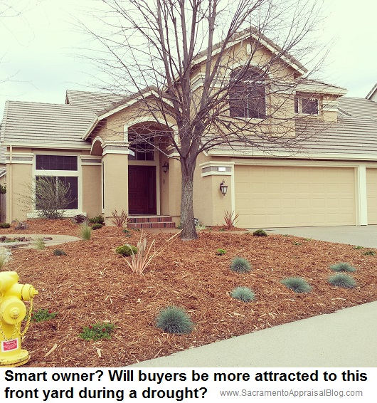 front yard during a drought - by sacramento appraiser blog