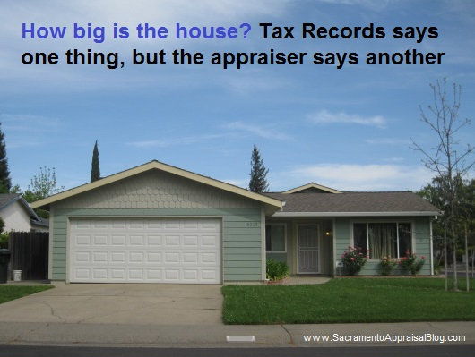 appraiser square footage vs public records - by sacramento home appraiser blog