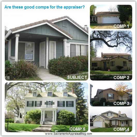 how to choose comps - sacramento appraisal blog