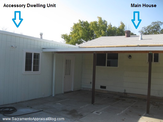 accessory dwelling unit in sacramento - by home appraiser blog
