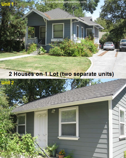 two houses on one lot - by home appraiser blog