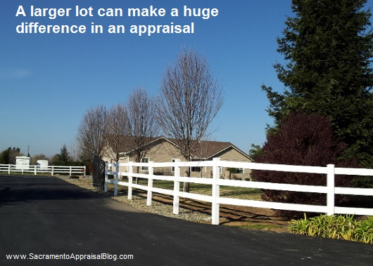 larger lot - sacramento appraisal blog