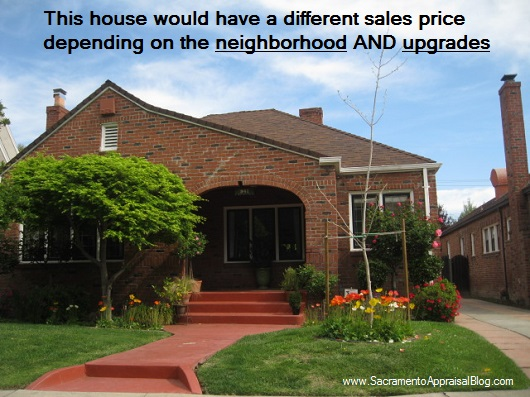 different price in a different neighborhood brick house