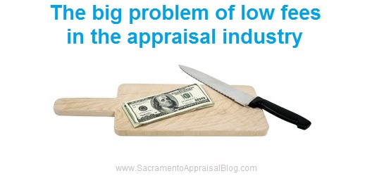 Low appraisal fees - image purchased by Sacramento Appraisal Blog and used with permission