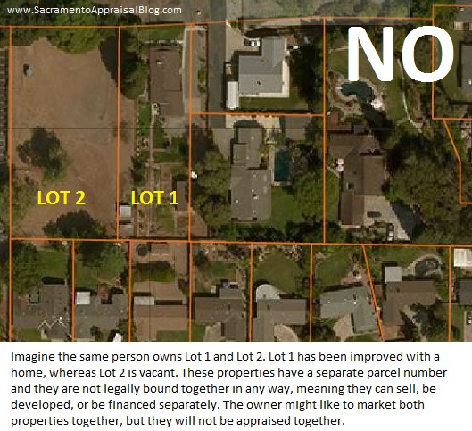 Lot 1 and 2 example B by Sacramento Appraisal Blog