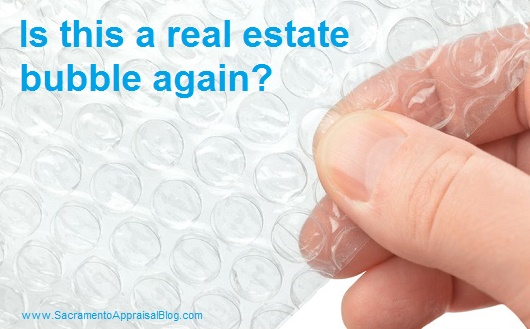 real estate bubble - image bought and used with permission from 123rf dot com by sacramento appraisal blog
