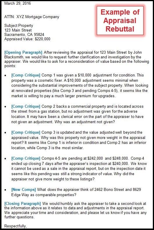 superb what does an appraiser look for #4: appraisal rebuttal example - by sacramento appraisal blog