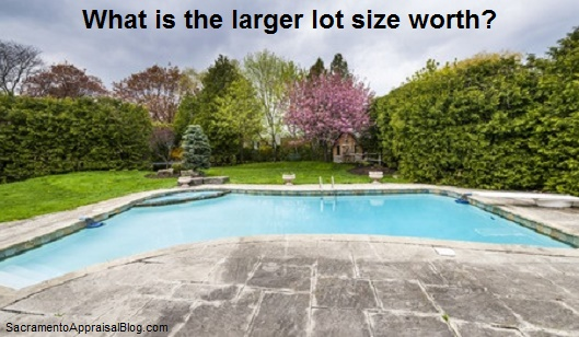 larger lot size in real estate - sacramento appraisal blog - image purchased from 123rf and used with permission