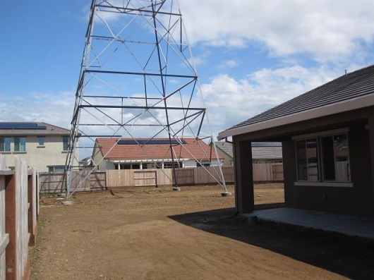 A high-voltage tower INSIDE the backyard | Sacramento Appraisal Blog ...