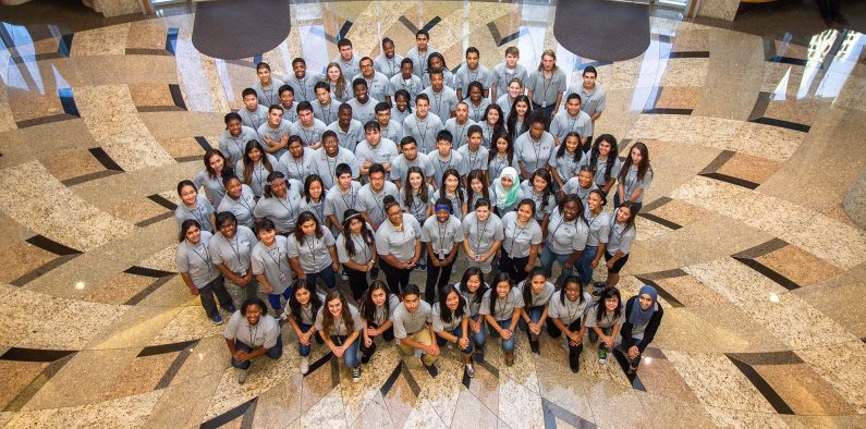 The 2014 Summer at City Hall students.