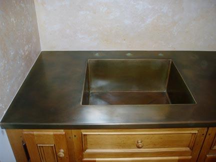 zinc top kitchen island sink drain plumbing metal countertops? | sacramento design blog