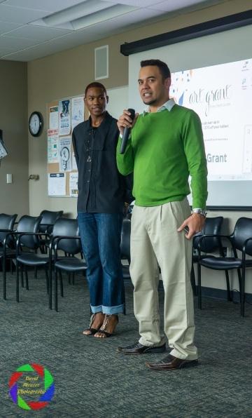 SACFW  Producer, Executive Director Duane Ram with Talent coordinator Cedric Wilkins
