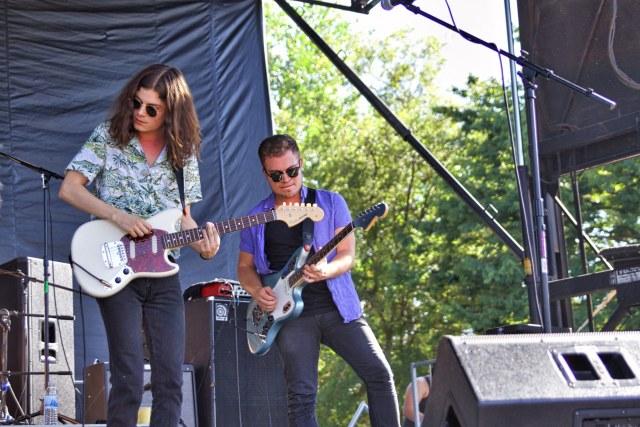 BØRNS, aka Garrett Borns, and guitarist Connor Doyle.