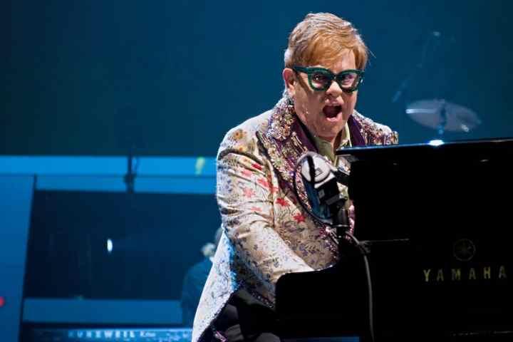 Elton John at the piano