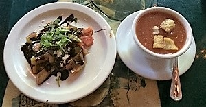 Picture of soup and salad