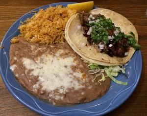 Tacos de Carnitas at Tres Hermanas