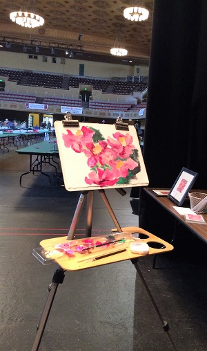 Picture of Sacramento Camellia Show Painting