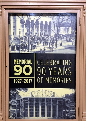 Picture of Memorial Auditorium 90 Year Anniversary Poster