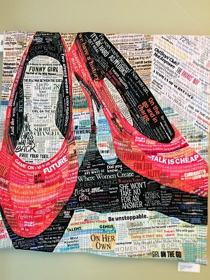 Picture of Pixeladies art quilt Walk a Mile in Her Shoes