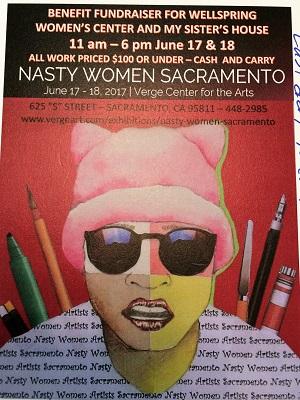 Picture of Nasty Women Sacramento Art Exhibit Flyer