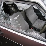Safest Cities in America List - Picture of Car with a broken window for National Night Out post