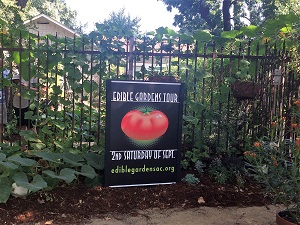 Picture of East Sacramento Edible Gardens Tour sign