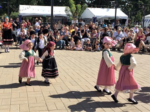 Picture of young dancers at Greek Festival