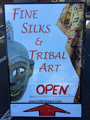 Picture of Above the Fray Hill Tribe Art Sign