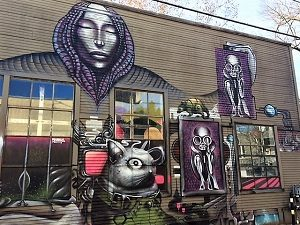 Picture of mural on the Sacramento Walking Sticks New Year's Day Walk