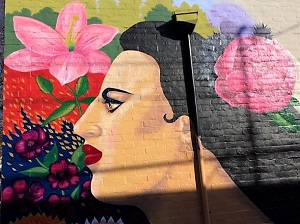 Picture of mural on Sacramento Walking Stick New Year's Day Walk