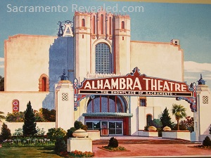 Photo of painting of Alhambra Theatre