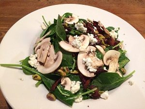 Picture of Ten22 Spinach, Mushroom & Bacon Salad