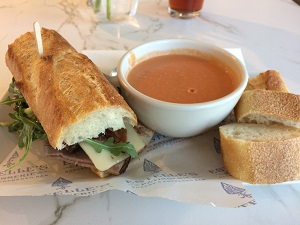 Picture of Estelle's Bakery and Patisserie Sandwich and Soup Combo