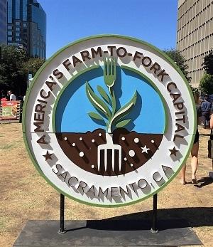 Photo of Sacramento Farm-to-Fork Capital Sign