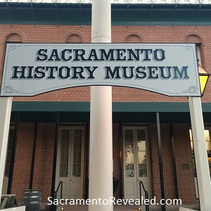 Photo of Sacramento History Museum Sign, Underground After Hours Tour