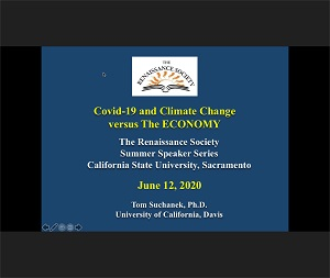 Photo of COVID-19 & Climate Change v. the Economy slide