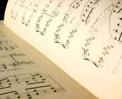 Photo of sheet music for Festival of New American Music