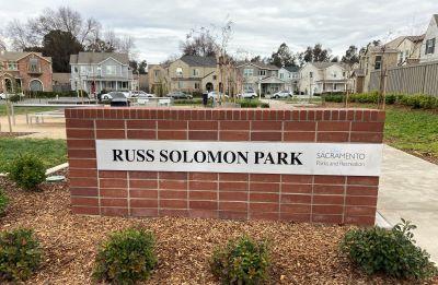 Photo of Russ Solomon Park Signage