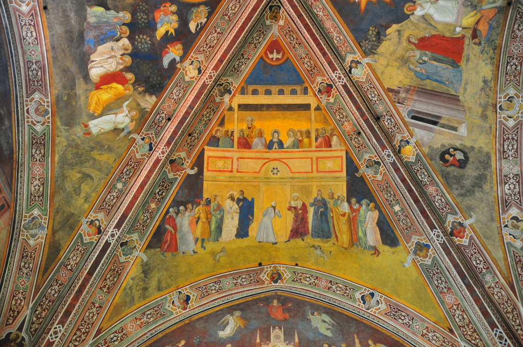Pentecost resources for everyone! And a Fresco by Andrea di Bonaiuto (sometimes called Andrea da Firenze), photograph, Ben Miller | Sacraparental.com