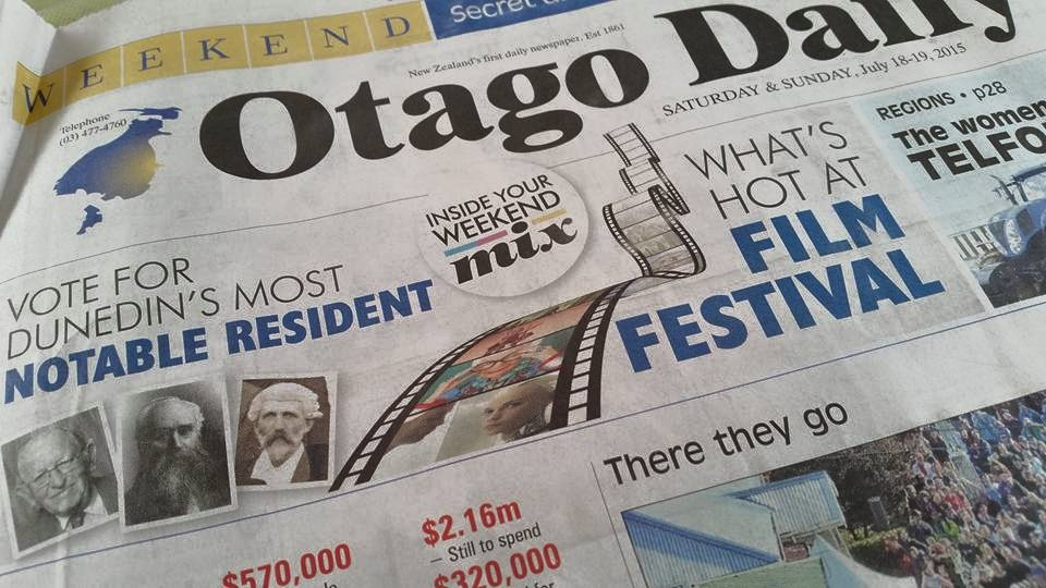Otago Daily Times front page notable resident