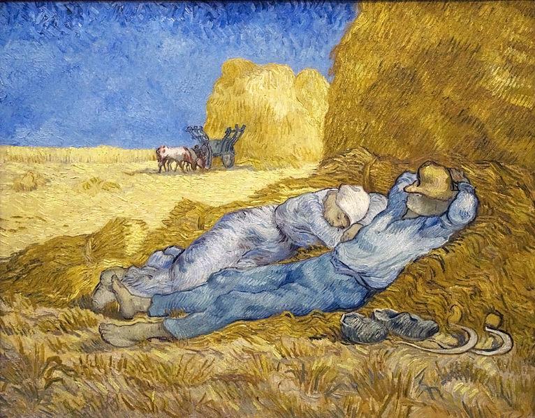 Vincent van Gogh, Noon Rest from Work.