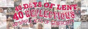 40 acts of generosity, lent reflections, stewardship uk
