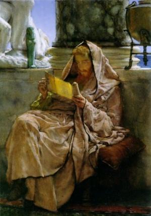 Prose, by Lawrence Alma-Tadema [1879] (Public Domain Image)
