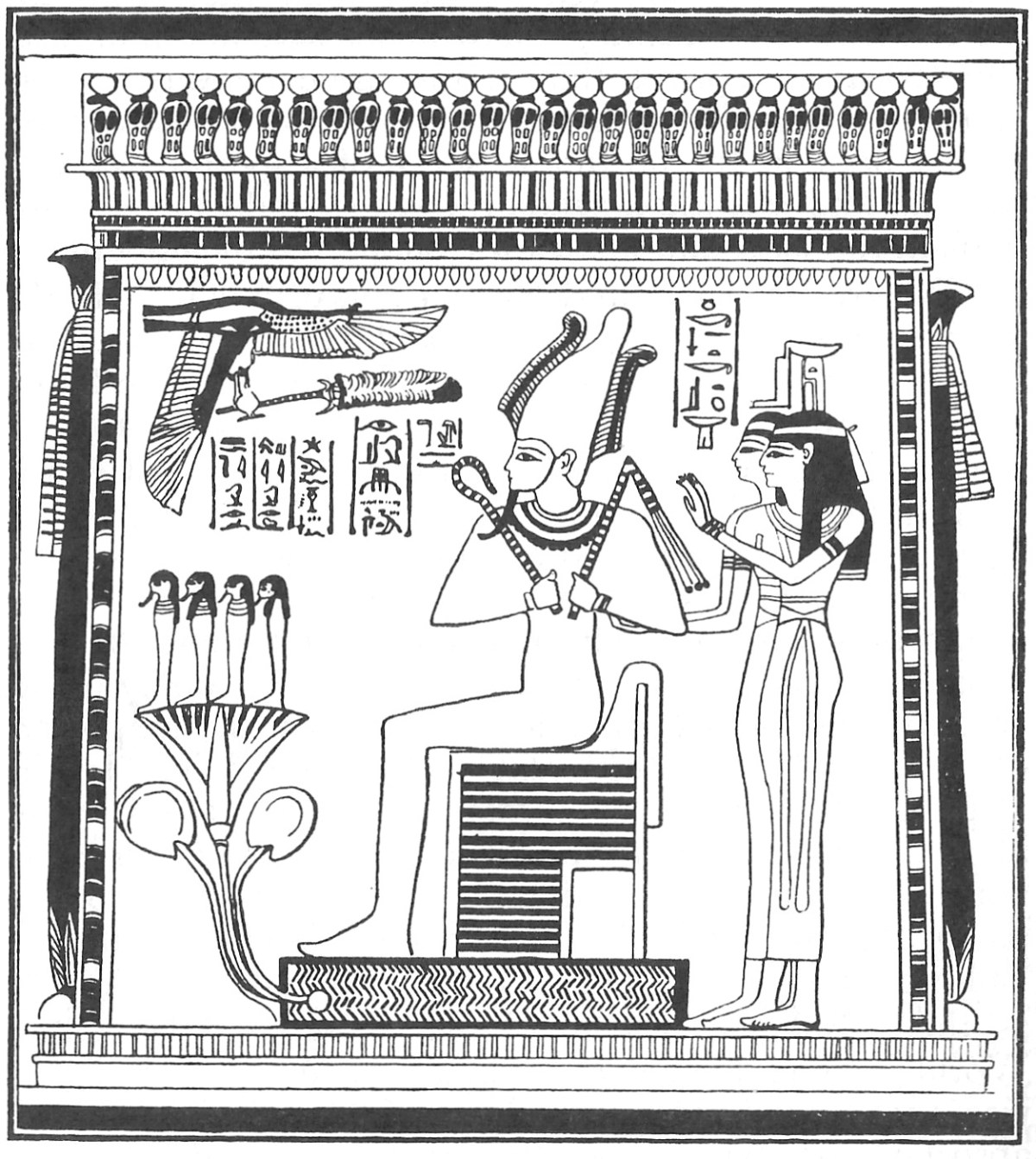 God of Harmony Osiris in Egyptian Mice Tomb
