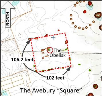 The Avebury Square within it's Southern Circle
