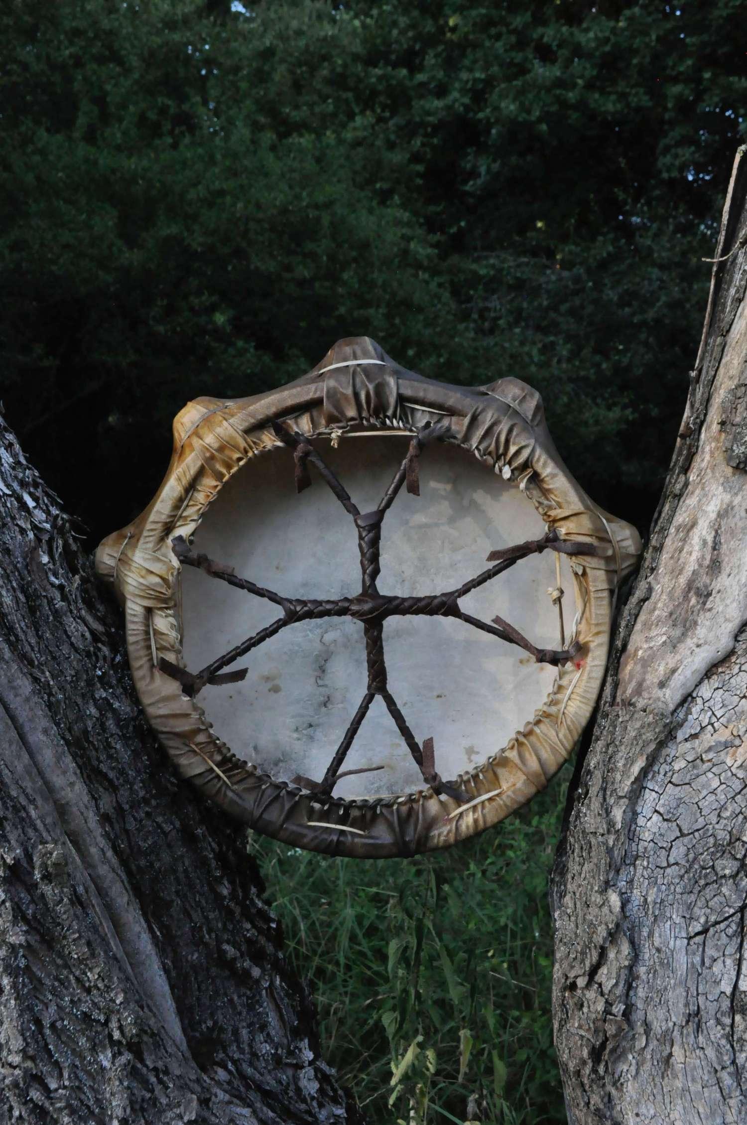 Tuvan shaman drum