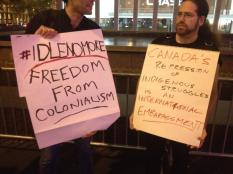 Elsipogtog solidarity demonstrations in New York